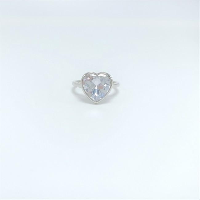Designer anello designer di gioielli di rodio placcato gli anelli del cuore di amore monili di nozze anello dimaond accessori all'ingrosso Cina