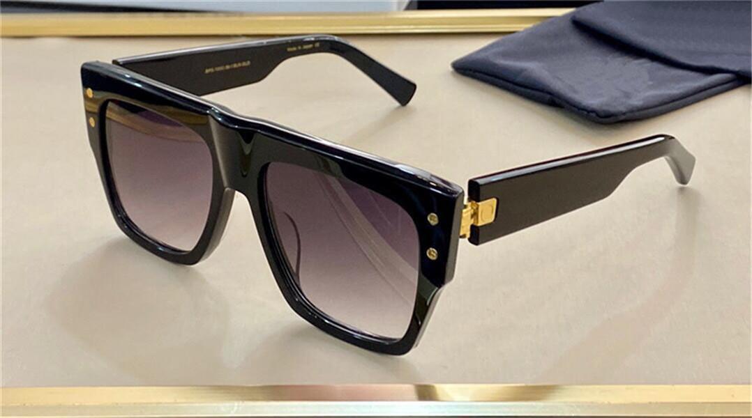Yeni Moda Tasarım Güneş Gözlüğü BPS-100 Kare Kalın Plaka Çerçevesi Basit ve Cömert Stil UV400 Koruyucu Gözlük En Kaliteli
