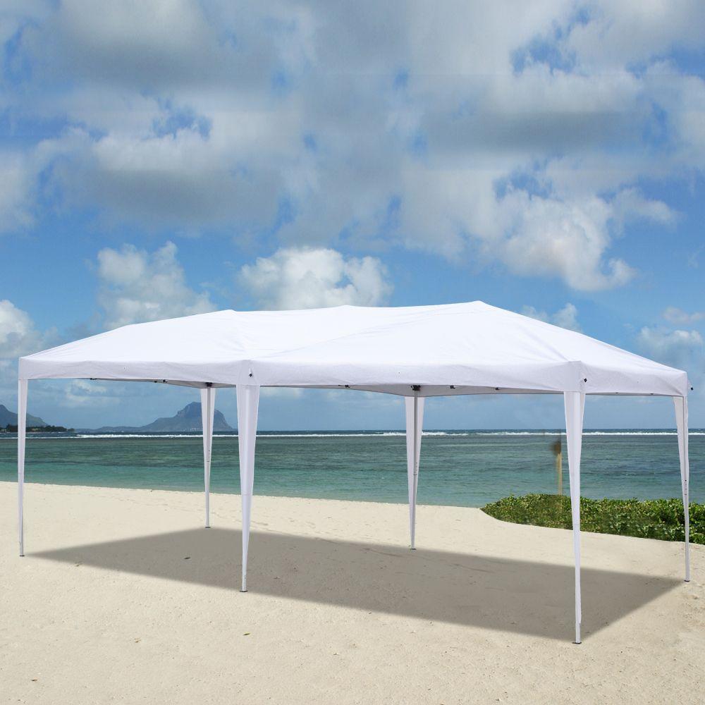 10x20FT Открытый кемпинг Водонепроницаемый складной Gazebo 3x6M Свадебная вечеринка Палатка Легкий всплывающий пляжный навес с переносной сумкой Бесплатная доставка