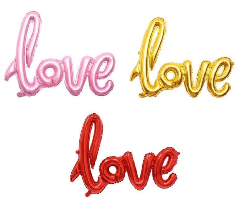 Globos entrega rápida amor alfabeto aire globos de cumpleaños fiesta decoración de boda mylar lámina globo letra grande globos DHD3818