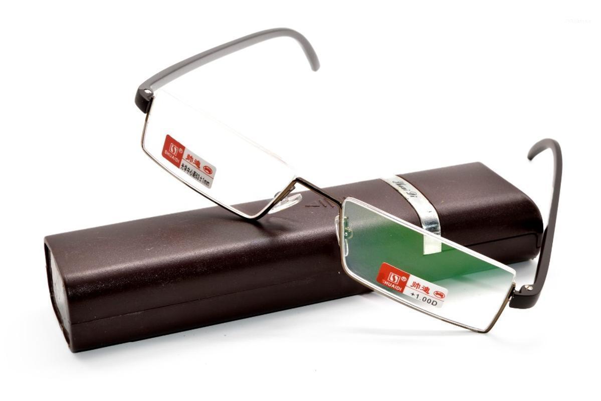 Солнцезащитные очки, читающие очки с моделью для корпуса Мультипроизводства Seim-Rim Brown Crown Business Высококачественный ультраслыжный сплав + 1 + 1,5 + 2 + 2,5 + 3 + 3,5 + 41