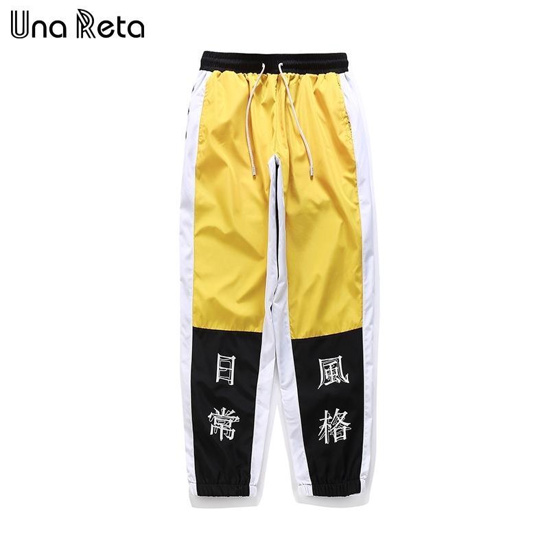 UNA RETRA HIP-HOP Pantalones Hombre Nueva Moda Chino Impresión Impresión Harem Pantalones Streetwear Hombres Casual Joggers Pantalones Pantalones Sweetpants Y201123