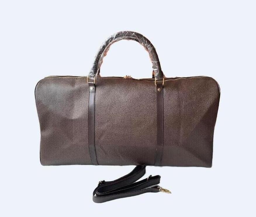 Sacos de viagem 55cm Bag Homens Bagagem Duffle Mulheres New Hand Qualidade Cross High Bags Homens PU Bolsas de couro PU grandes totes de viagem de viagem Rijje