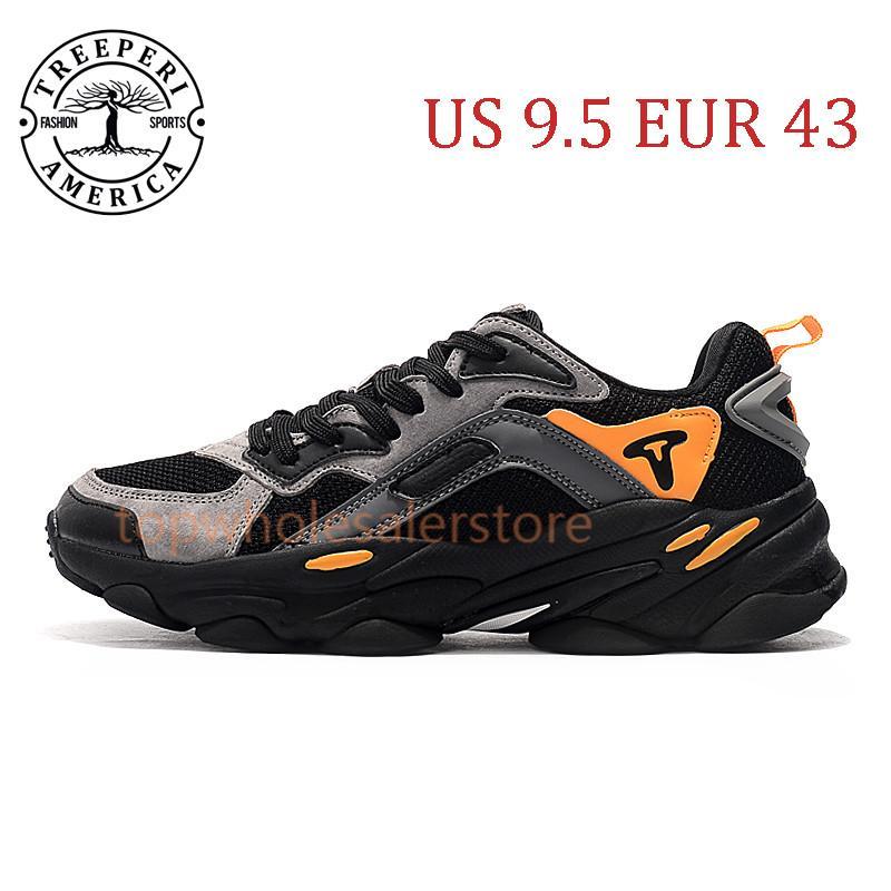 أفضل أشعلية الأزياء مكتنزة 700 لينة أحذية الركض الوحيد أسود رمادي برتقالي الولايات المتحدة 9.5 يورو 43 للرجال المدربين