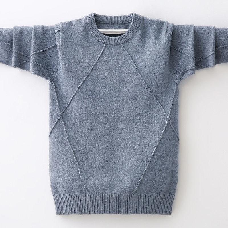 Sous chaud Boys Pull 4-13 ans Spring and Automne Ronde Coulée Ronde Coulée Vêtements Pour Enfants Couverture Diamants Shirt Deystem 201109