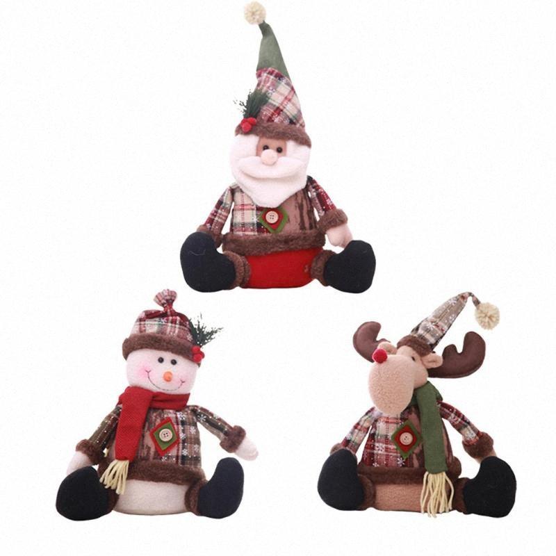 Рождественские куклы Игрушка Санта-Клаус снеговика Elk Главная Украшения Украшения Подарочные fyig #