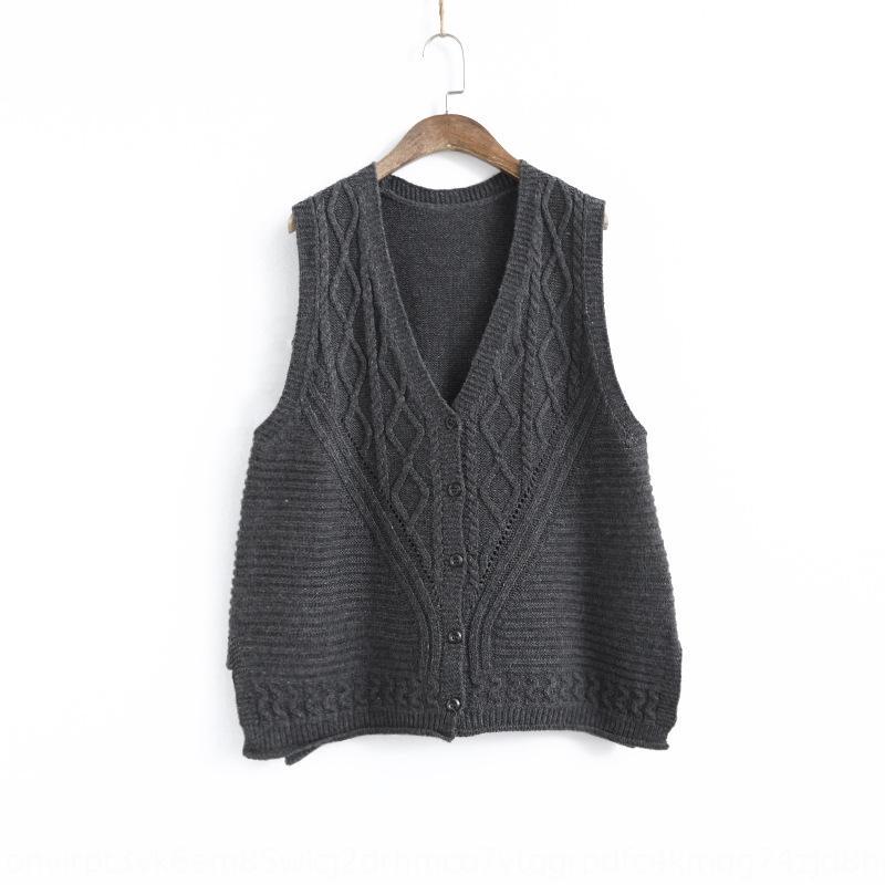 930014 diamante torção colete oco curto em V sem mangas solto malha vestVest colete revestimento ocasional casaco para mulheres hXSoA