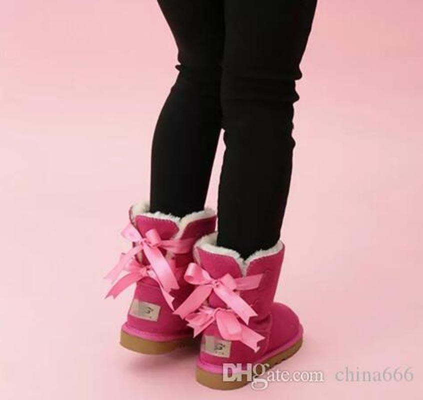 أحذية الأطفال الصغار جلد طبيعي أحذية الثلج الصلبة بوتاس دي نيفي الشتاء بنات الأحذية طفل بنات أحذية