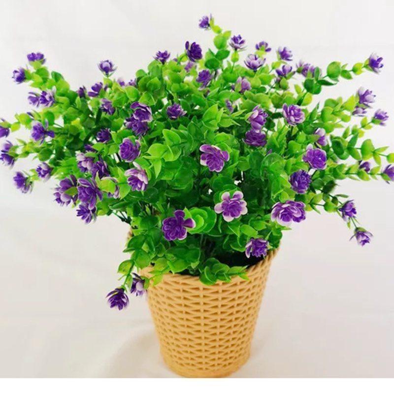 Künstliche Blumen Outdoor Pflanzenträucher Boxwood Kunststoff Blätter Gefälschte Büsche Grün Fenster Startseite Hof Garten Hochzeit Dekor1
