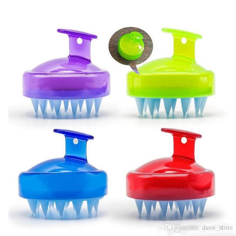 Silikon-Shampoo-Pinsel Runder sauberer Kopfhaut Massagebürste Körper Bad SPA Massagebürsten Badezimmer Duschbürsten