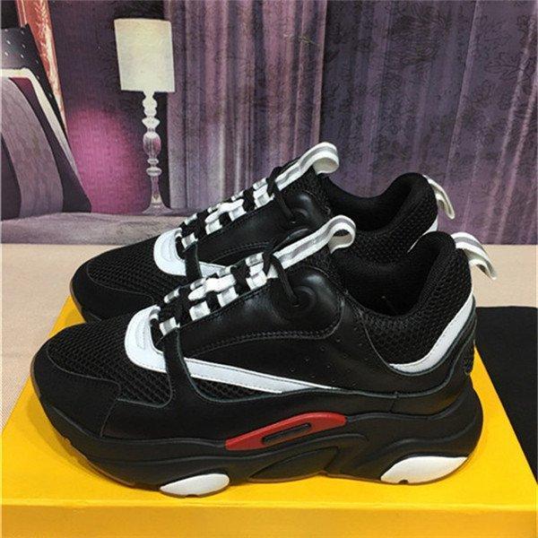 Erkekler ve kadınların rahat ayakkabıları, klasik renk retro örgü, rahat kalın taban, saf siyah, beyaz, kırmızı, mavi, boyutu 36-45