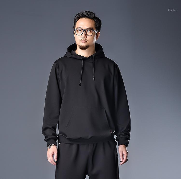 Massive schwarze Baumwolle Hoodie Männer Hip Hop Sweatshirt Männliche Casual Streetwear Jacke Mantel Hoody Sweatshirts Männer Übergroße Kleidung 7xl1