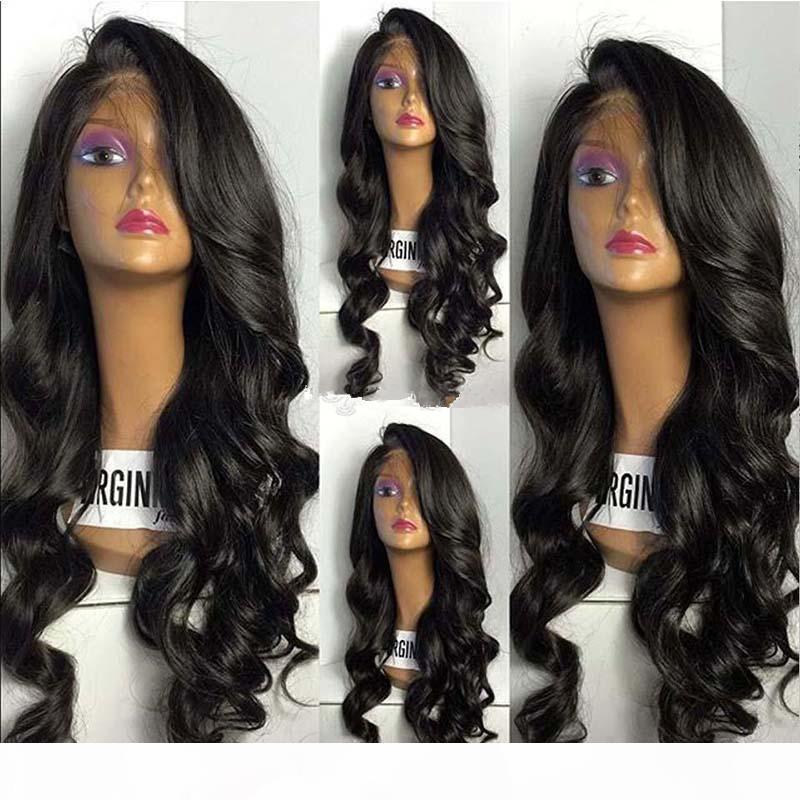 Beste Qualität brasilianisches Menschenhaar-volle Spitze-Perücken für schwarze Frauen-Wellenförmige Glueless Spitze-Front-Perücken für schwarze Frauen Baby Hairline