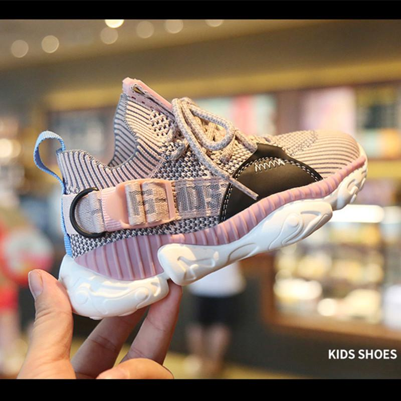 Children's Autumn New Boys Girls Sports Soft Sole Breathable Fashion Casual Kids Sneakers Running Shoes 201027