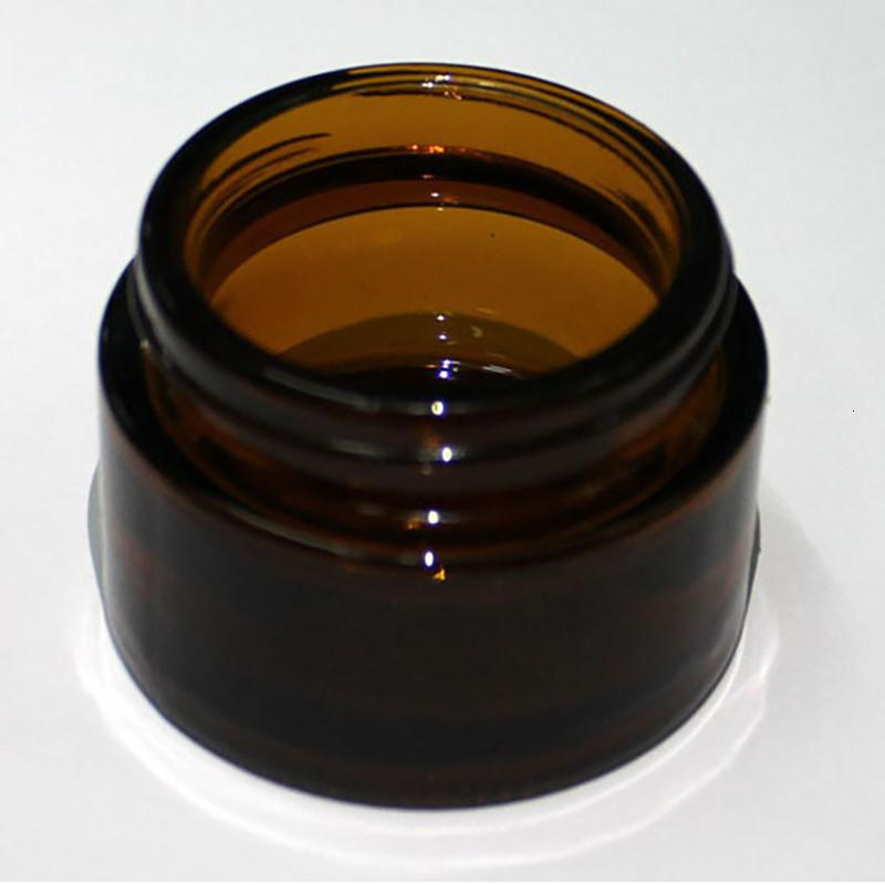 Tapa negra de vidrio de ámbar marrón 515 30 50 100g Tarro cosmético Embalaje Embalaje Crema de ojos
