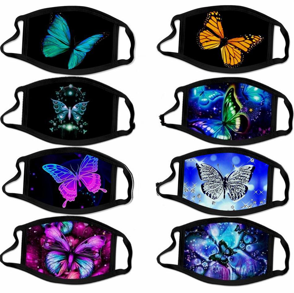 Masque Impression papillon antipoussière impression Mode Masque Ice Tissu en soie d'été New Street Fashion Trendy Masque Loisirs GWE2481 Foulard