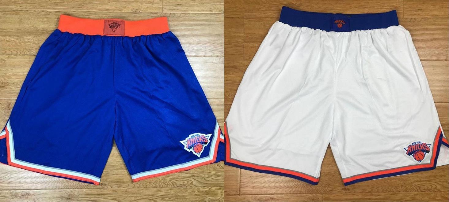 New YorkKnickelnMänner atmungsaktive Hosen klassische Basketball-Shorts