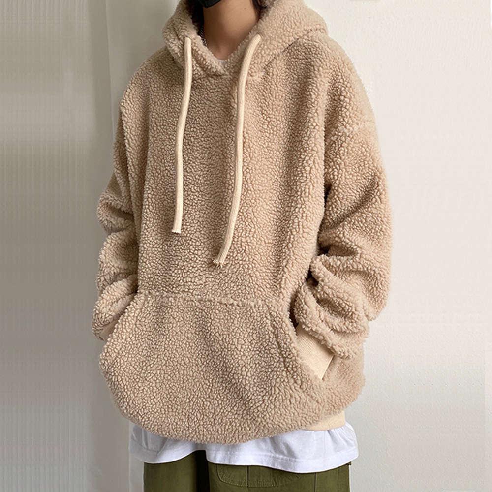 Isurvivor 2020 uomini primavera lana molla pullover pullovers Felpe Streetwear maschile casual moda stile sciolto stile solido con cappuccio