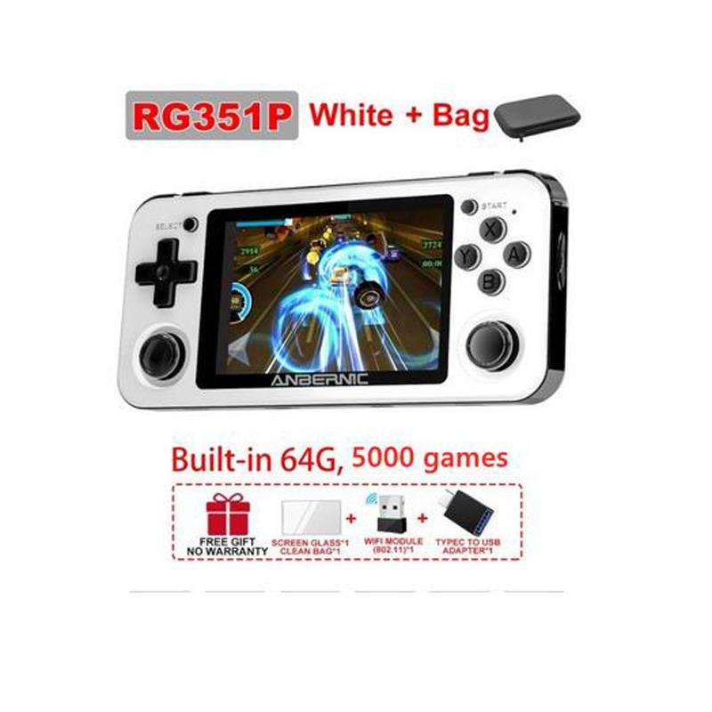 ANBERNIC RG351P Retro Handheld Game Player RK3266 Linux System Built-in 5000 PS1 N64 FC Games Console Video Music Players Gifts