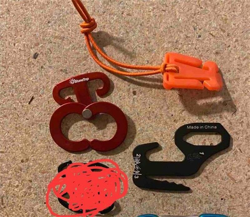 Ensemble de mousqueton (5 carabineuses dans le sac avec logo) 1500SET via océan et 1500SET par air