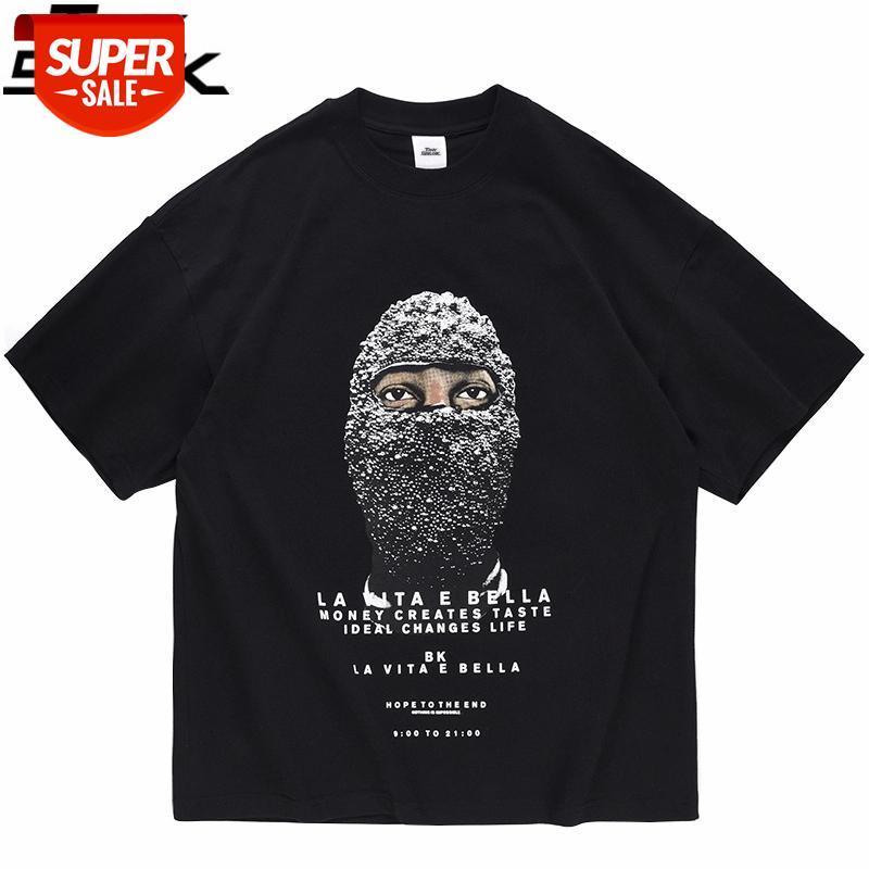 2021 Erkekler Hip Hop Streetwear T Gömlek Mektup Adam Baskı Harajuku Tshirt Bahar Yaz Kısa Kollu T-shirt Pamuk Rahat Tops Tees # La7a