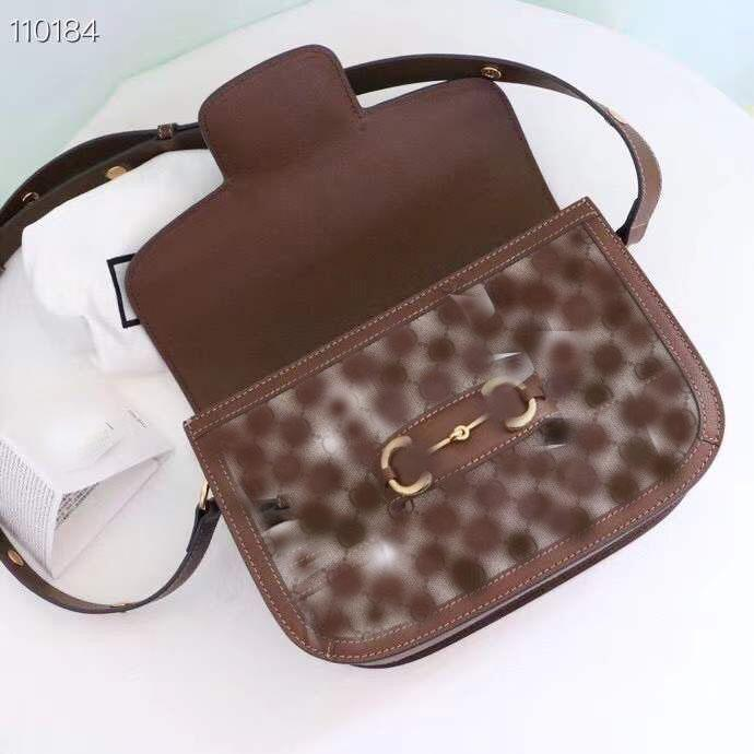 Fashion luxury shoulder bag women Retro saddle bag 25cm The metal buckle can be disassembled used in three ways