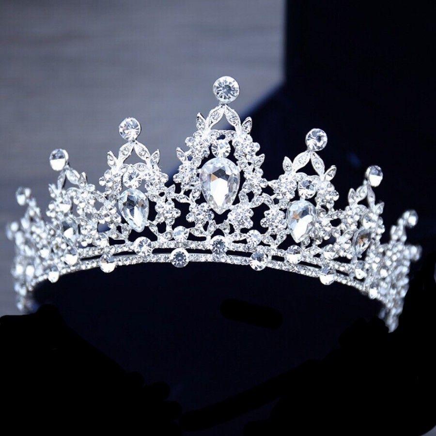 2021 Cristales clásicos Coronas nupciales Sparkle con cuentas Tiaras para mujer Ceremonia de fiesta Fintadas de boda Accesorios para el cabello Cabeza de joyería Al8380
