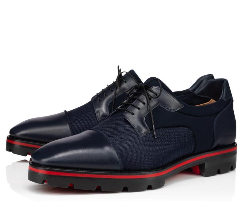 Elegante Designer Cavalheiro Vermelho Botão Mocassins Sapatos Homens Derby Derby Lug Sole Oxford Sapatos de Andar Partido Negócio de Casamento Oxford Walking