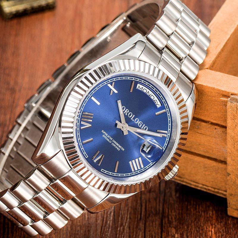 montre de luxe Mens Relógios 41 milímetros Movimento automático cheio de aço inoxidável Relógios de pulso 2813 Mecânicas impermeável Luminous U1 fábrica