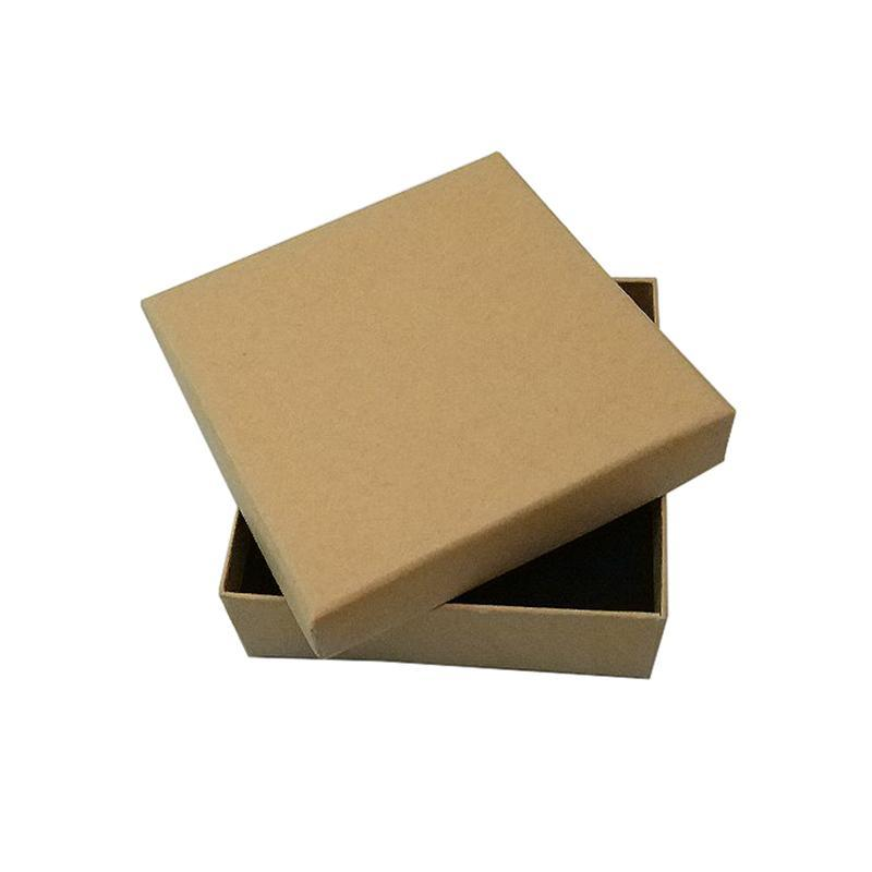 Bolsas de joyería, bolsas 16 piezas de caja de cartón kraft, 9 * 3 cm