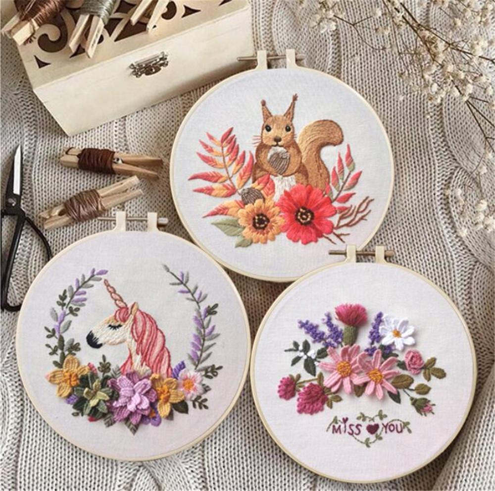 Hot home arts kill time cerchio ricamo kit ricamo ricamo ricamo ricamo cucito kit kit ricamo per principiante fai da te art cucito artigianale