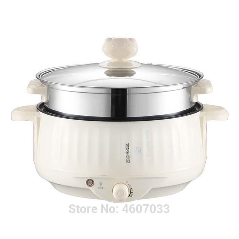 Multifuncional Elétrico Fogão Aquecimento Pan Guisado Cozinhar Máquina Potenciômetro Hotpot Macarrão Ovos Sopa Sopa Arroz Fogão