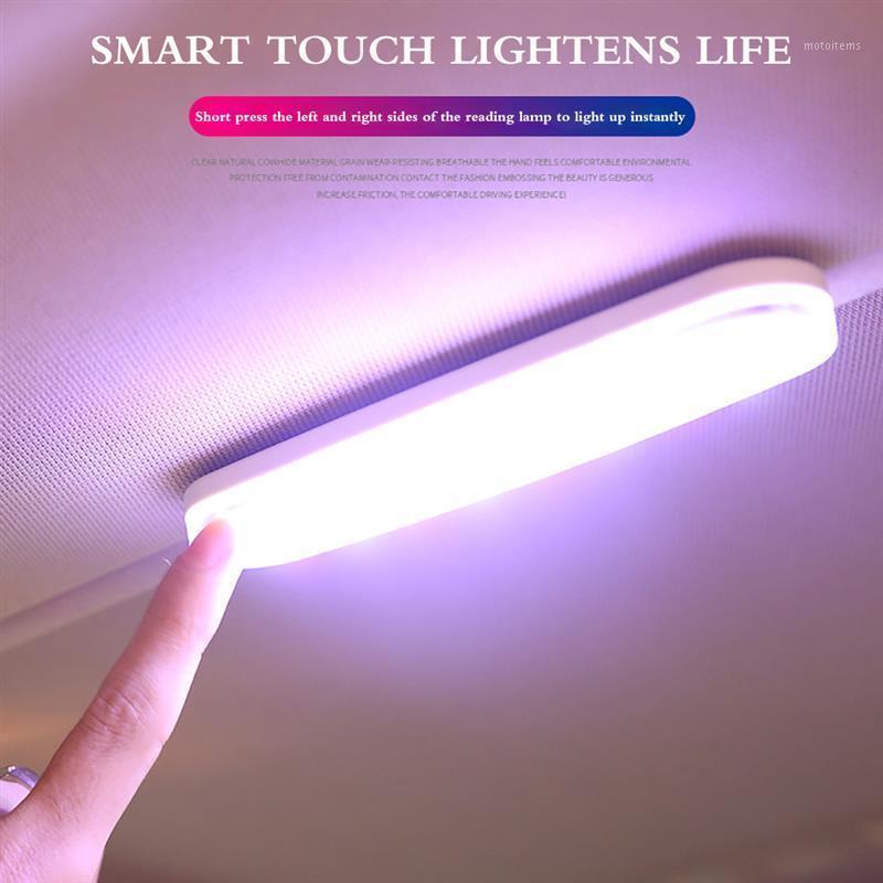 ONEVER Yeni Manyetik LED Araba İç Işık USB Şarj Edilebilir Okuma Işık Araba Styling Okuma Gece Kapalı Tavan Lambası1