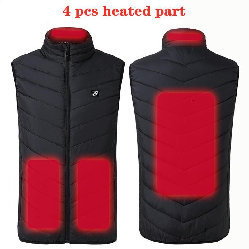 Ebaihui New 9 lugares aquecida Vest Homens Mulheres Usb Jacket aquecida Aquecimento Vest térmica roupa de caça Vest Inverno Aquecimento Jacket negros-6XL