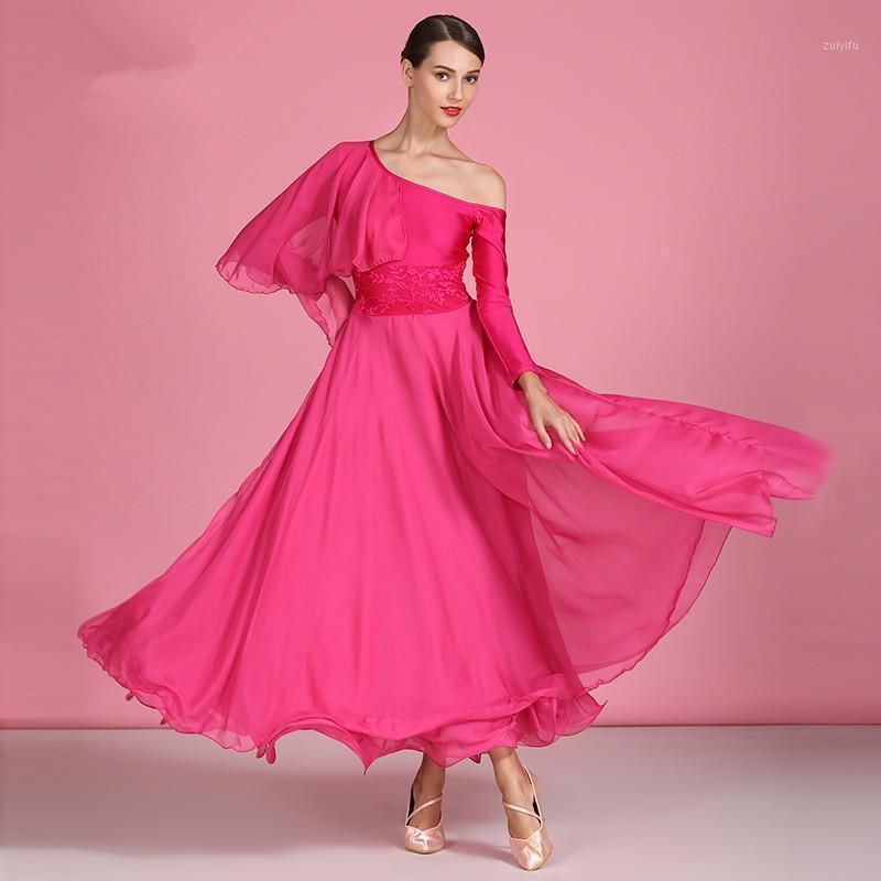 Sahne Modern Dans Kadınlar Balo Salonu Kostümleri Waltz Üniformaları Topu Eğitim Giysileri Sosyal Tam Etek Elbise S90591
