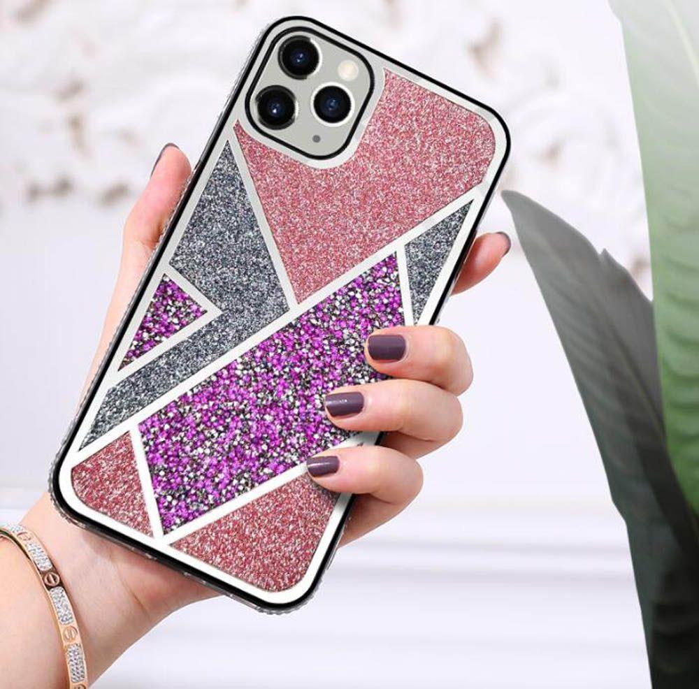 럭셔리 다이아몬드 전화 케이스 아이폰 12 11 프로 엑스에 대 한 반짝이 jacked samsung s21 s30에 대한 최대 핸드 커버 20 여자를위한 케이스