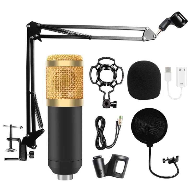 Microfono microfono USB condensatore con supporto per microfono tabletop regolabile per la voce di registrazione in studio Voice
