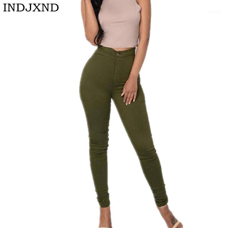 Indjxnd lápiz lápiz estiramiento ocasional mirada denim skinny jeans pantalones cintura alta pantalones denim flaco pantalones vaqueros clásico lápiz pantalones1