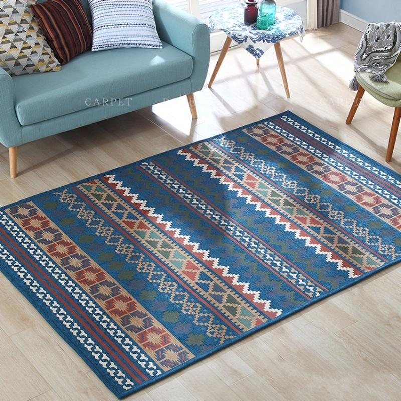 Kilim style gorgeous bedside carpet ,big size living room coffee table carpet, American style home decoration floor mat