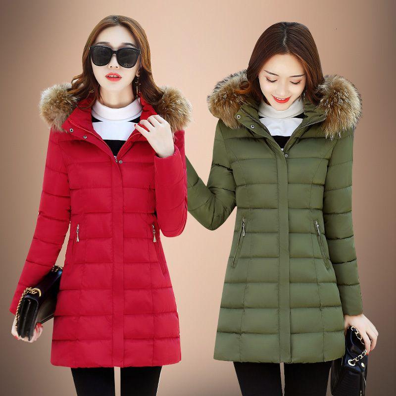 Damen Daunen 2020 Warme Wintermantel Weibliche Jacke mit Kapuze Parkas Frau Plus Size Kleidung Thick 4xl Abrigo Mujer Pph1273