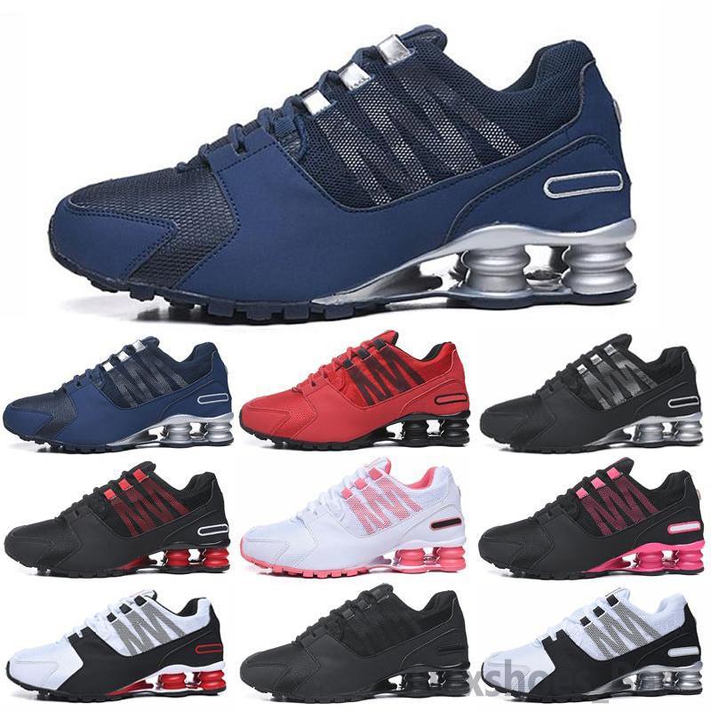 Shox 2020 Hombres calientes Hombres y mujeres Zapatillas Avenida 802 Zapatos Entregar OZ NZ R4 809 Cojines Sneakers Deportes Jogging Trainers 36-46