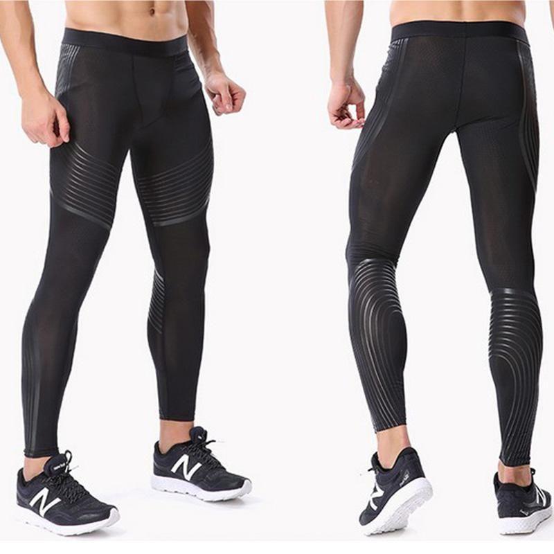 Compressione Pantaloni Uomo Addestramento del muscolo Collant palestra pantaloni in corso jogging Fitness Pantaloni Yoga Leggings Sport Jogging