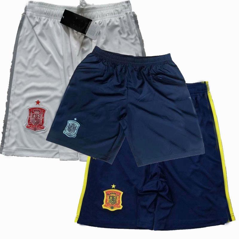 Лучшие новые 2020 2021 Испания Футбол Шорты национальной команды 20 21 Домашний Домашний футбол спортивные тренировочные шорты штаны