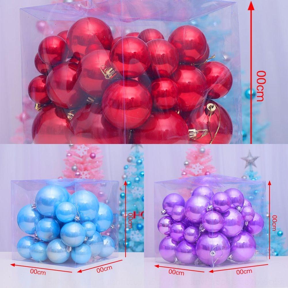 qf7wI decoración de la decoración del árbol de Navidad colgante colgante ballChristmas paquete de bola bola perla S6tTl 37 ventana