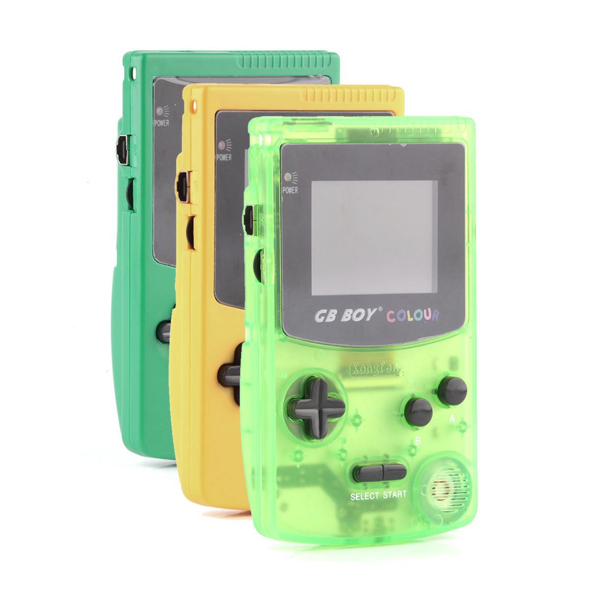 """1 pz / lotto GB Boy Color Color Color Game Game Player 2.7 """"Portable Classic Game Console console con retroilluminazione 66 Games Built-in LJ201204"""