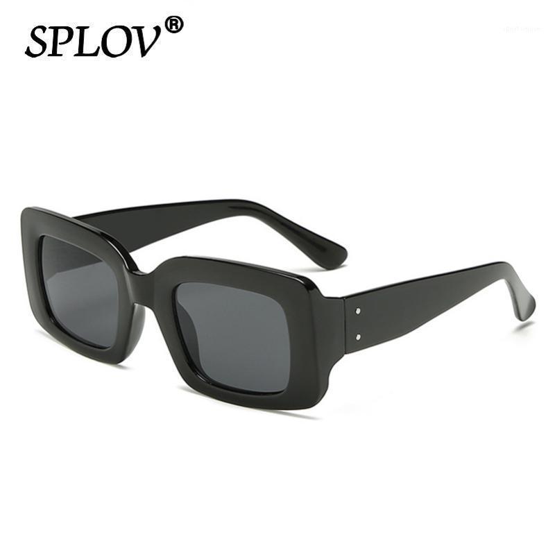 Солнцезащитные очки 2021 старинные ретро маленькие прямоугольные мужчины бренд дизайнер мода леопард квадратная рамка солнцезащитные очки женщин UV400 Shades1