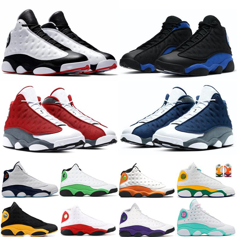 Tribunal Roxo 13 13s Flint Vermelho Lucky Green Dark Powder Blue Starfish 13s Homens Basquetebol Sapatos Reflexivo Hyper Real Trainers Sneakers