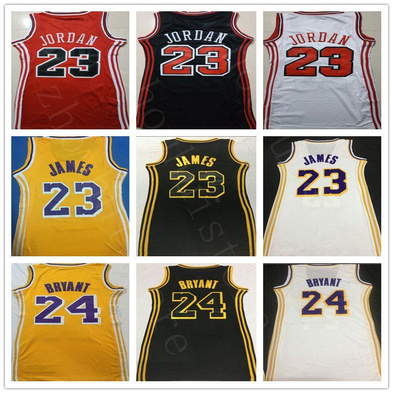 NCAA Femmes 23 MJ 23 BLJ Basketball Robe Femme 100% brodée LeBron Vêtements James B24RYANT Retro 23 robe de femme