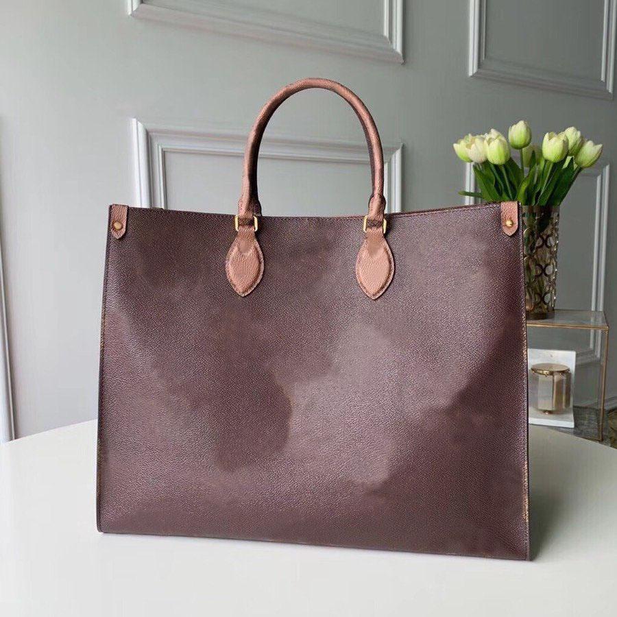 Venda Por Atacado Moda Fashion Shopping Bolsa bolsa de bolsa de ombros sacos duplamente lidar com grande capacidade impressão letra flor decorativa alta qualidade x167