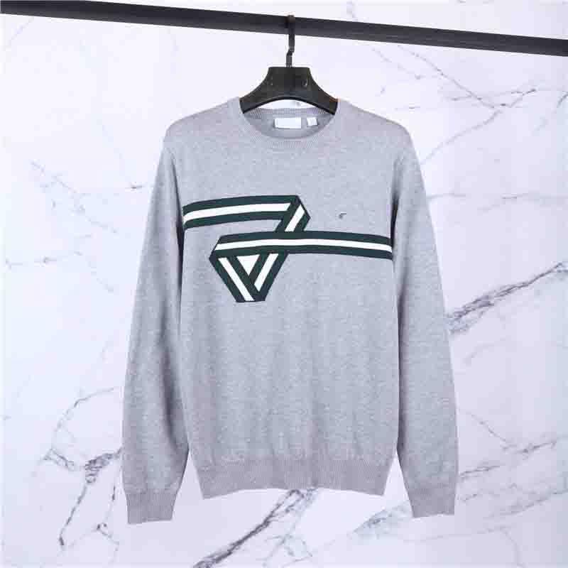 Мужчины свитер Зимняя мода Специальная лента Pattern Свитера Англия Стиль Вязаные свитера мужские свитера Конструкторы 3 цвета Размер M-2XL